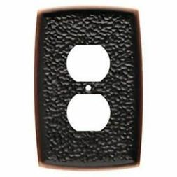 Liberty144035 Hammered Bronze & Copper Single Duplex Outlet