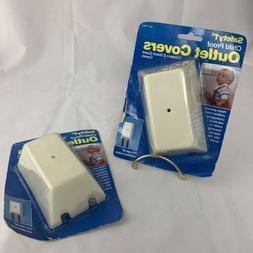 2 Safety 1st Outlet Cover Baby Child Proofing Plastic 2 Shoc