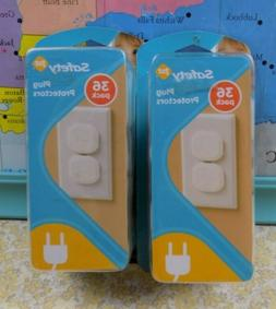 2 Packs Safety 1st 36pc Plug Protectors White Plastic Outlet
