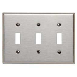 3-Gang Toggle Device Switch Wallplate, Standard Size, Device