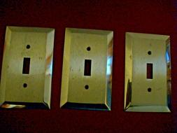 """~SALVAGE~BRUSHED BRASS OUTLET COVERS~VINTAGE SALVAGE~ 5""""X3""""W"""