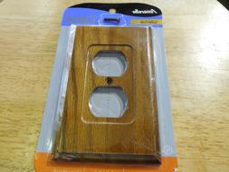 AmerTac AMERELLE DUPLEX WALL OUTLET COVER PLATE SOLID OAK WO