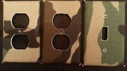 CAMOUFLAGE LIGHT SWITCH & OUTLET COVERS; FUN & COOL! -FREE S