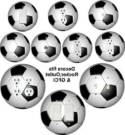 Coloriffic Soccer Ball Light Switch, Outlet, Decora Rocker w