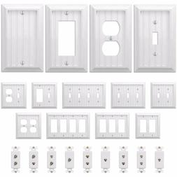 country cottage white wood wall switch plate