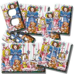 COUNTRY DOLLS RETRO TOYS TEDDY BEAR LIGHT SWITCH PLATES OUTL