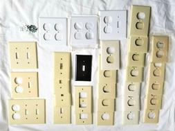Electric Wall Plate Covers Ivory and White Switch Plates Out