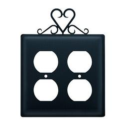 heart double outlet cover