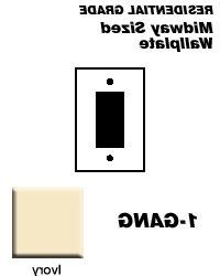 Leviton Electrical Wall Plate, Midway Size Decora, 1Gang Ivo