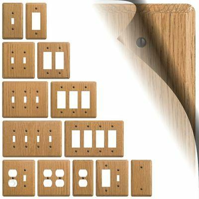 light oak wood switch plate cover contemporary