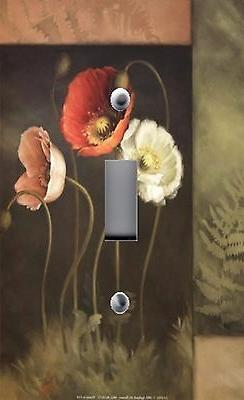 Light Switch Plate Outlet Covers AUDIT DESIGNER POPPIES FLOR