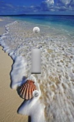 Light Switch Plate Outlet Covers BEACH DECOR ~ SCALLOP SHELL