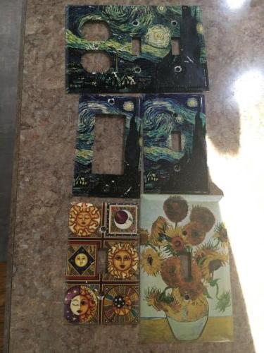lot of 4 van gogh outlet covers