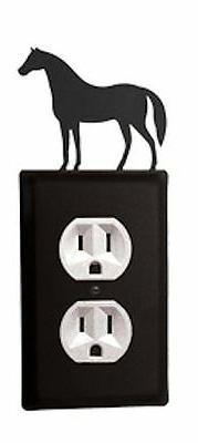 wrought iron horse single electrical outlet covers