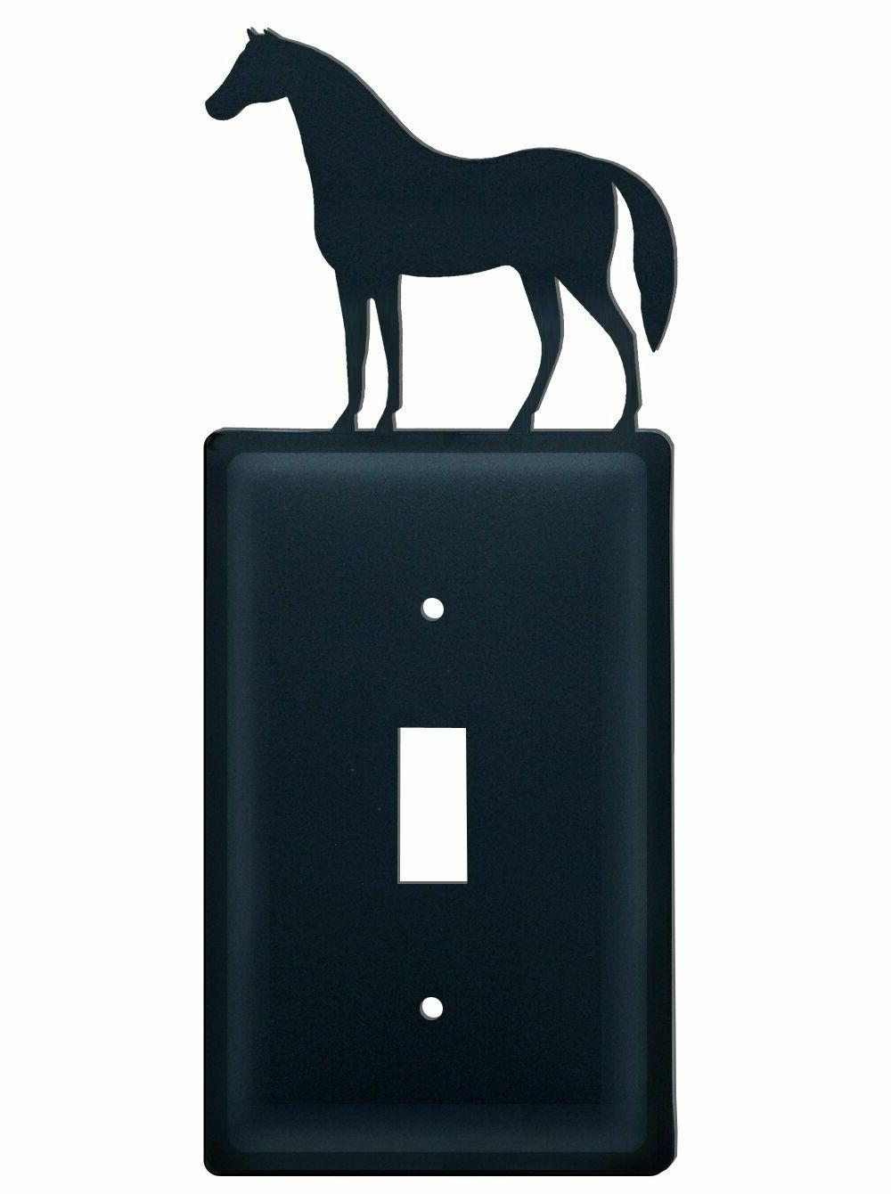 wrought iron horse single outlet toggle or