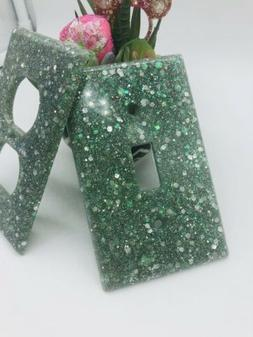 Handmade Light Switch And Outlet Covers Glitter Sparkle