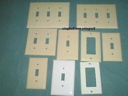 Lot 9 Light Switch Covers Wall Plates White and Ivory