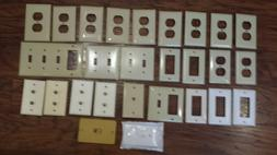 Lot of 27 Various Electrical Outlet and Switch Plate Plastic