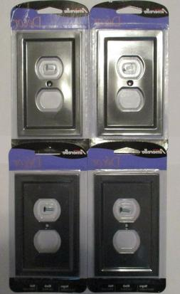 Lot of 4 Amerelle Duplex Outlet Cover Wall Plate Bethany Bla