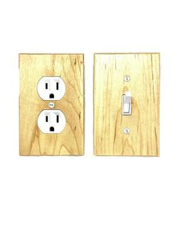 Maple Switch Plate Covers Rustic Light Switch Cover Wooden W