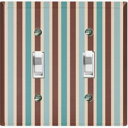 Metal Light Switch Cover Wall Plate For Bathroom Green/Brown