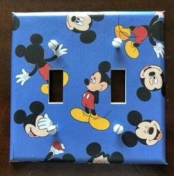 MICKEY MOUSE LIGHT SWITCH COVER PLATES DISNEY BLUE OUTLET CO