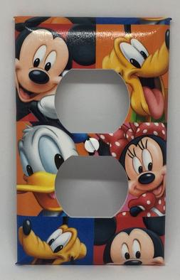 Mickey Mouse Outlet Cover Plates Minnie Goofy Disney Pluto D