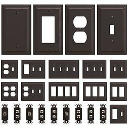NEW Switch Plate GFI Outlet Cover Wall Rocker Oil Rubbed Bro