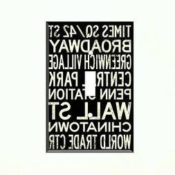 New York City Words Light Switch Plate Outlet Wall Cover