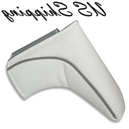 outlet golf blade putter cover headcover white