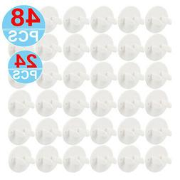 Outlet Plug Covers 12-48PCS Clear Child Proof Electrical Pro