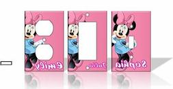 PERSONALIZED Minnie Mouse Light Switch Covers Disney Home De