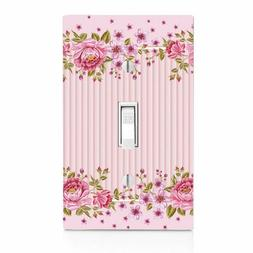 Pintuck Pink Roses, Light Switch, Wall Plate, Bedroom, Bathr