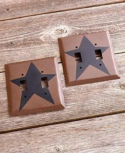 The Lakeside Collection Primitive Set of 2 Double Light Swit