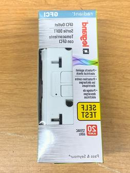 Legrand Radiant 20amp GFCI Outlet. White.