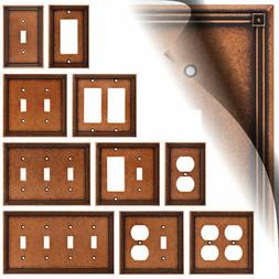 Ruston Sponged Copper Switch Plate Outlet Cover Toggle Duple