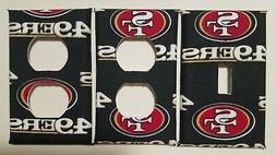 SAN FRANCISCO 49ERS LIGHT SWITCH & OUTLET COVERS; GO NINERS!