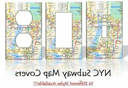 Subway Map NYC New York Light Switch Covers Home Decor Outle