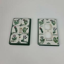 Vintage Garden Spices Electrical Outlet Wall Plate and Light