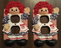 Vintage Raggedy Ann Outlet Cover Wall Plug For Room - 2 Avai