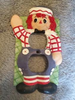 Vintage Raggedy Ann Raggedy Andy Outlet Cover Switch Plate