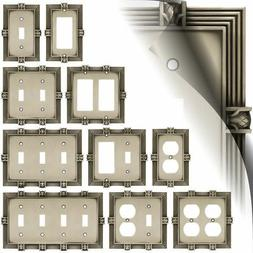 Wall Switch Plate Cover Pineapple Satin Pewter Outlet Toggle