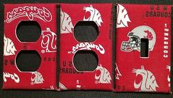 WSU COUGARS LIGHT SWITCH COVER AND OUTLET PLATES, GO COUGS!